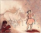 Girl with Horse Illustration by CatarinaGarcia