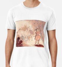 Girl with Horse Illustration Premium T-Shirt
