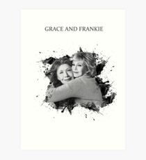 Grace and Frankie Black and White Art Print