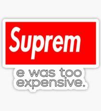 Suprem Sticker