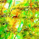 Jade and Amber Abstract by Dana Roper