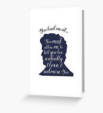 Book Boyfriends- Mr. Darcy Greeting Card