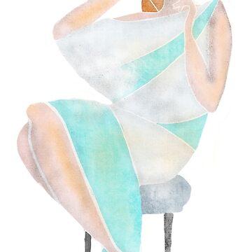 sitting lady by Deki