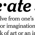 Create definition by Tom Hillmeyer