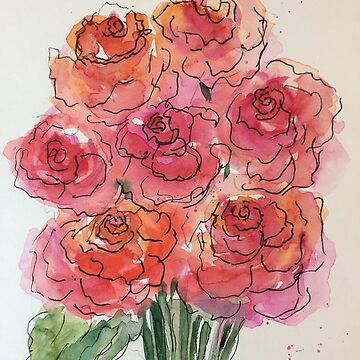 Red roses painting by Britta75