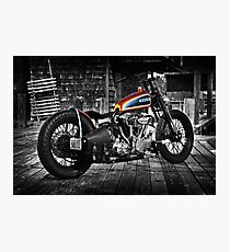 Harley Davidson Knucklehead Fotodruck