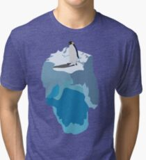 Penguin on an Iceberg Tri-blend T-Shirt