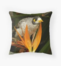 Blue-Faced Honeyeater Throw Pillow