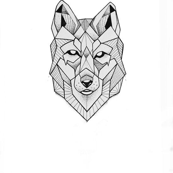 """Geometric wolf face art"" Posters by TheBulzero 