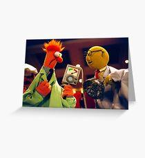 Bunsen and Beaker Greeting Card