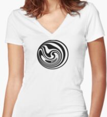 Spinning circle house DJ Vol. 2 - Happy people icon Women's Fitted V-Neck T-Shirt