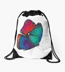 Fly my butterfly Drawstring Bag