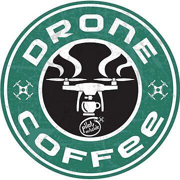 Drone Coffee - Starbucks parody -  t-shirt by pzd501