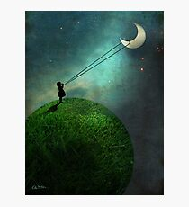 Chasing the moon Photographic Print