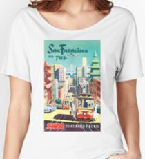San Francisco via TWA - Vintage Travel Poster Women's Relaxed Fit T-Shirt