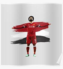 Mo Salah - The Egyptian King - LFC  Poster