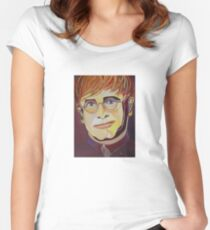Croc Rock Man Portrait Women's Fitted Scoop T-Shirt