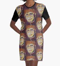 Croc Rock Man Portrait Graphic T-Shirt Dress