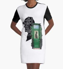two hundred and twenty one B Baker Street Graphic T-Shirt Dress