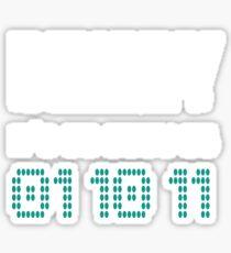 Binary It's As Simple As 01 10 11 Sticker