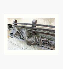 Homeless Jesus Art Print
