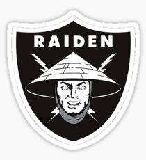 Raiden in Raiders logo Sticker