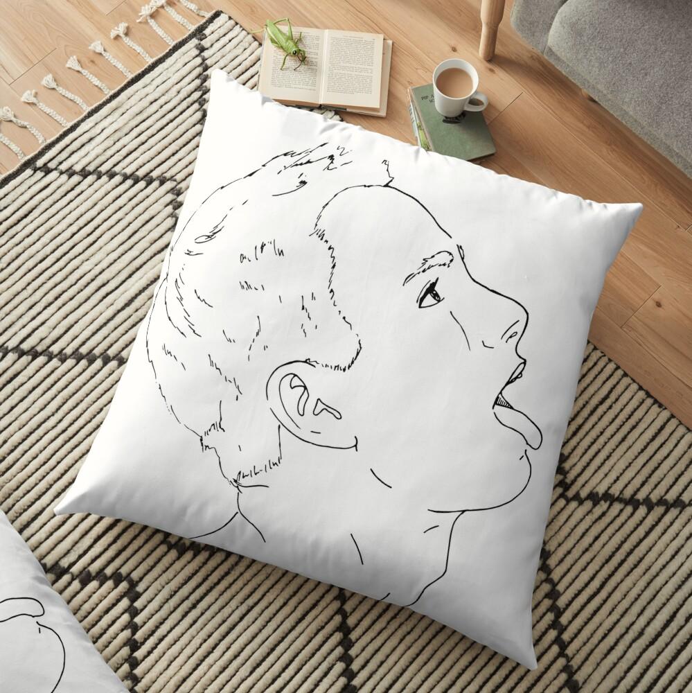 Open Wide Floor Pillow
