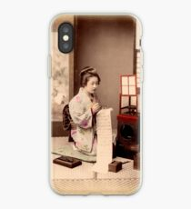 Geisha writing a letter iPhone Case