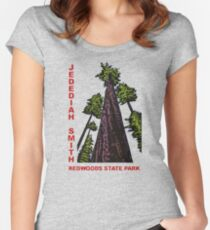 Jedediah Smith Redwoods State Park Vintage Travel Decal Women's Fitted Scoop T-Shirt