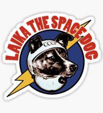 laika the space dog Sticker