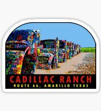 Cadillac Ranch Amarillo Texas Vintage Travel Decal Sticker