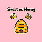 Cute Sweet as Honey Beehive Bees Light Color by TinyStarAmerica