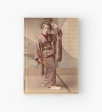 Two geisha girls dancing Hardcover Journal