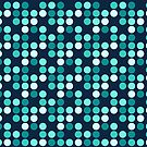 """""""Bloo Dotted"""" - Blue, Bleu, Dot, Dots, Dotty, Geometric, Shape, Sphere, Round, Circle, Period, Cobalt, Ice, Frozen, Freeze, Frosty by CanisPicta"""