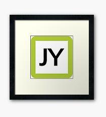 JY / 山手線ロゴ-Yamanote Line logo- Framed Print