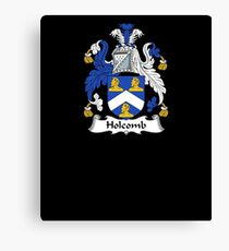 Holcomb Coat of Arms - Family Crest Shirt Canvas Print