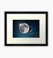 Space Moon Planet Science fiction Framed Print