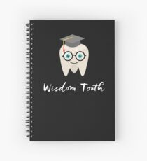 Funny Wisdom Tooth Dentist Dental Hygienist Gifts Teeth  Spiral Notebook