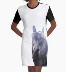 Close Up Horseface One Graphic T-Shirt Dress