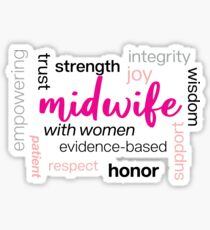 'Midwives Are Amazing! ' Funny Midwives Day Midwifery   Sticker