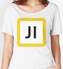 JI / 鶴見線-Tsurumi Line- Women's Relaxed Fit T-Shirt