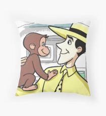Curious George & MWTYH Throw Pillow