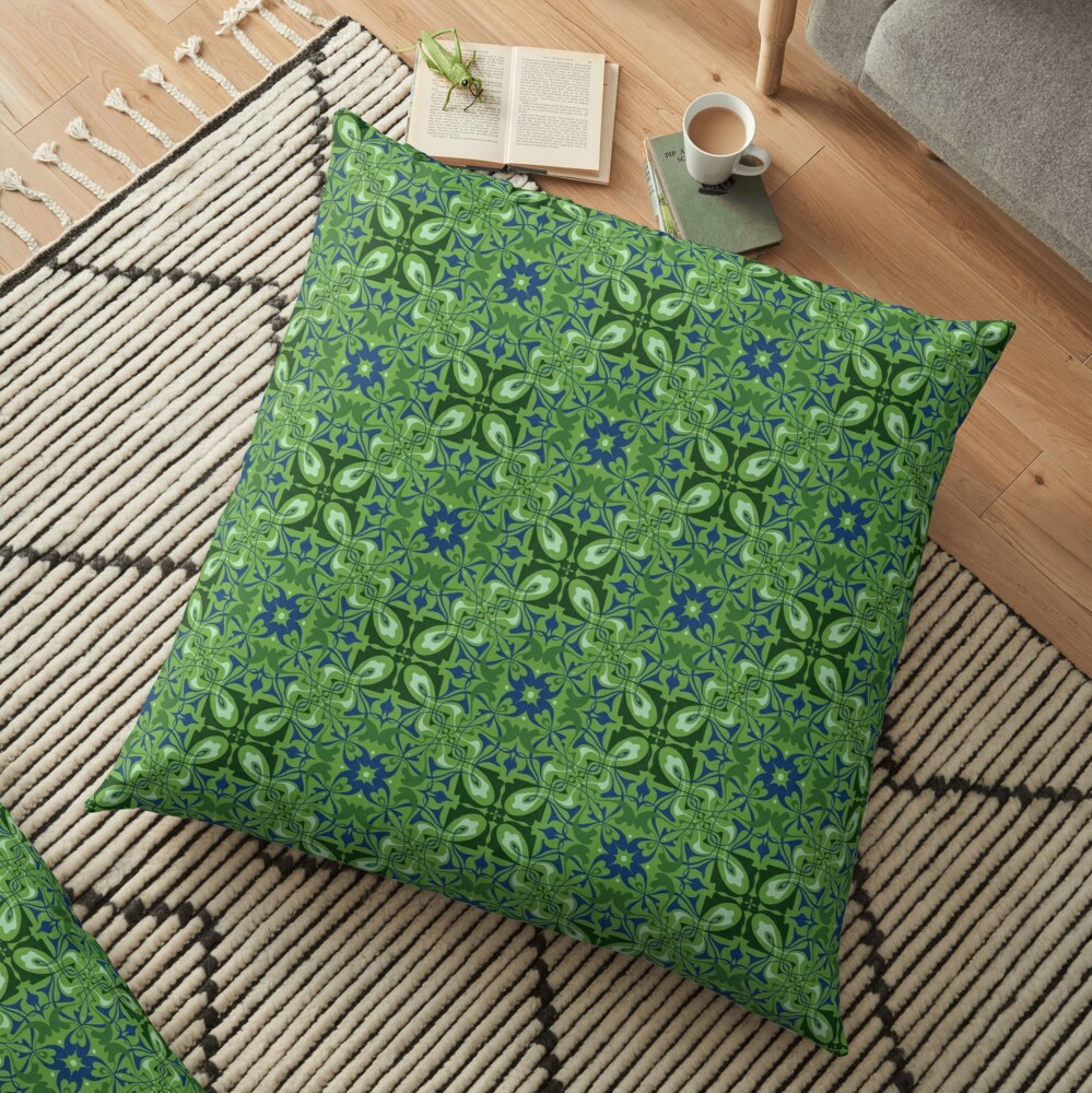 Emerald pattern Floor Pillow
