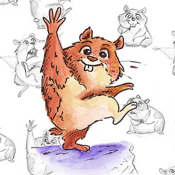 Hamster with Character Concept Sketch by inspiredthings