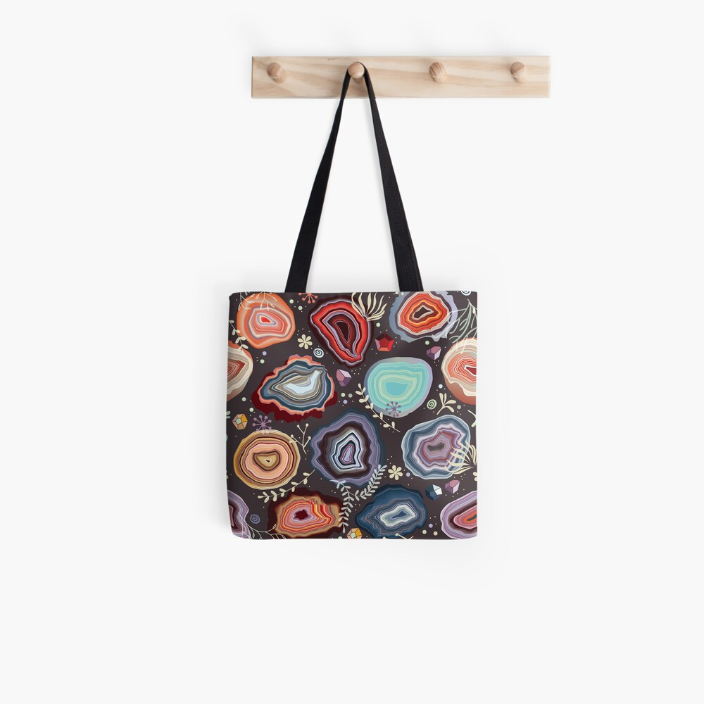 Colorful agates Tote Bag