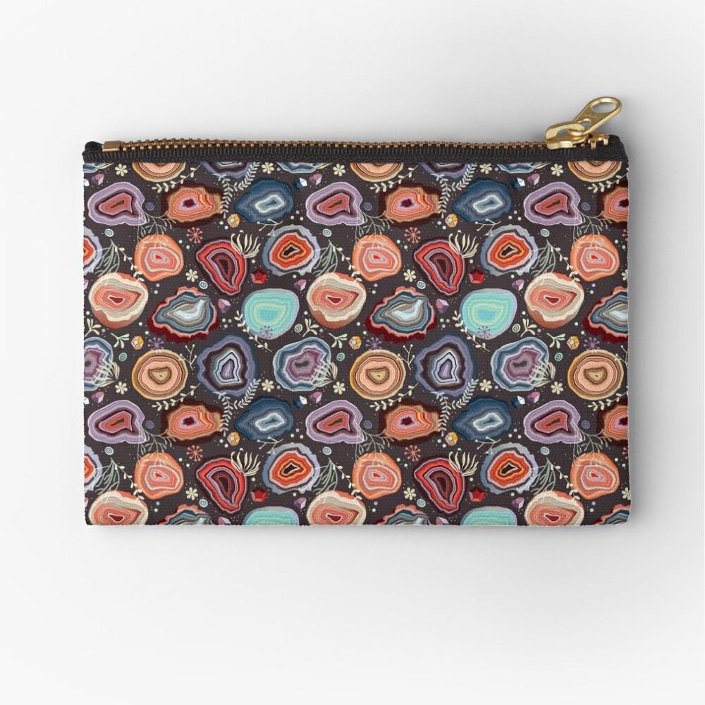 Colorful agates Zipper Pouch