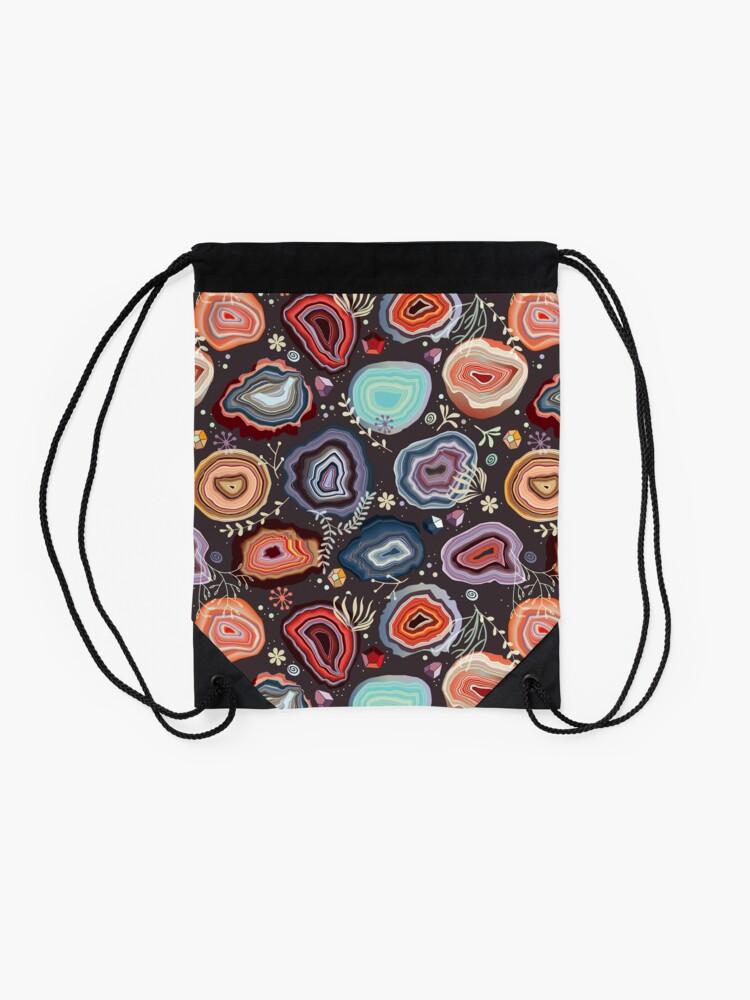 Alternate view of  Colorful agates Drawstring Bag