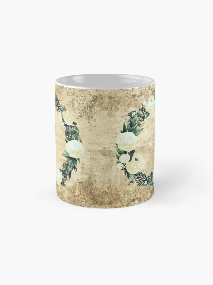 Alternate view of Wreath #White Flowers #Royal collection Mug