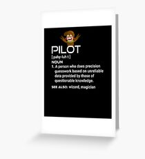 Pilot Definition Greeting Card