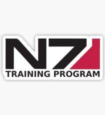 N7 Training Program Logo BLACK Sticker